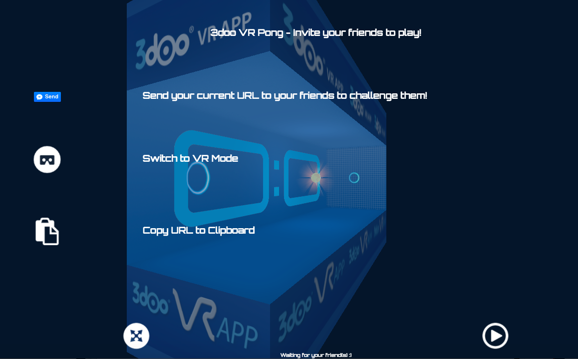 Multiplayer 3D/VR Pong Game